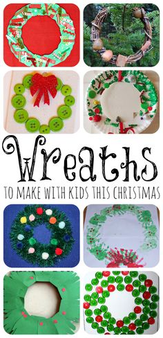 Christmas Wreaths to Make with the Kids featured at www.fun-a-day.com.