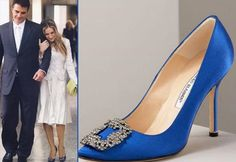 manolo blahnik blue shoes - Google Search