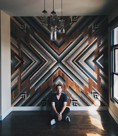 wall installation for is done and done. This bad boy was made from wood rescued from a home-built in the… Wooden Wall Art, Wooden Walls, Reclaimed Wood Wall Art, Wood Wall Art Decor, Salvaged Wood, Barn Wood, Nashville, Veranda Design, Wall Installation