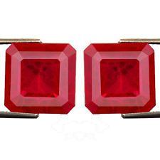 ▓▒░ 26.70ct GORGEOUS PIGEON BLOOD RED RUBY CHATHUM OCTAGON PAIR sang rough rubis