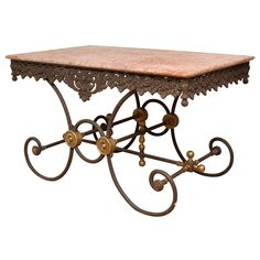 Charmant Antique French Pastry/baker Table