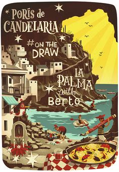#onthedraw - We spent a whole day at PorIs de Candelaria, a old fishing village situated under an enormous overhanging cliff used by locals as a weekend get away. Berto, our host, prepared the best Paella ever over a BBQ, washed down with some incredible home made red wine - an amazing day :))