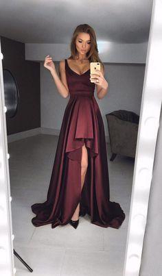 gorgeous dark purple plum prom dress - coffin #nails #nailscoffin #coffinnails