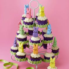 Bunny Cupcake Tower