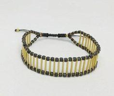 hematite bracelet, geometric bracelet, raw brass sticks, minimal design, unisex bracelet