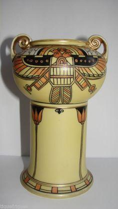 Nippon vase Egyptian revival