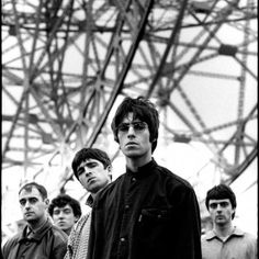 Oasis: Paul Arthurs, Tony McCarroll, Noel Gallagher, Liam Gallagher and Paul McGuigan, Oasis Band, Culture Pop, Band Photography, Band Pictures, Rock Band Photos, Britpop, Wonderwall, Forever, Music Icon