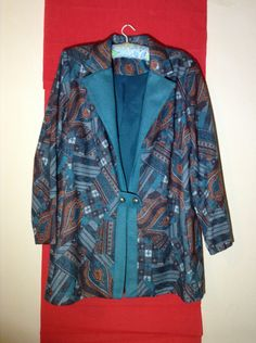 Vintage Norman Linton size 16 Warm Autum/Winter Jacket/Beautiful Colours by MerryLegsandTiptoes on Etsy