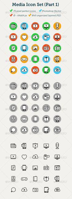 75 Media Icons