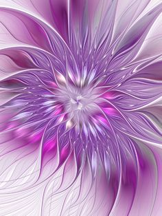 Pink Flower Passion, Abstract Fractal Art Art Print by Gabiw Art