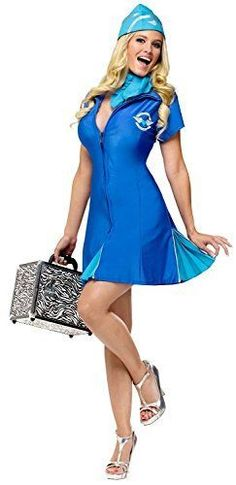 922f209c1 Fun World Holiday Times Unlimited Inc Women s In Flight Delight Costume  Blue  fashion  clothing
