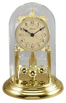 So eine Uhr stand im Wohnzimmerverbau aus Mahagoni ...