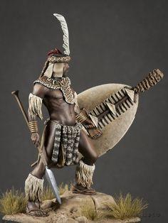 Izinduna (Chief of Zulu Regiment) 1879 African Tribes, African Men, African American History, Zulu Warrior, Tribal Warrior, Afro Art, Pensacola Beach, Six Flags, African Warrior Tattoos