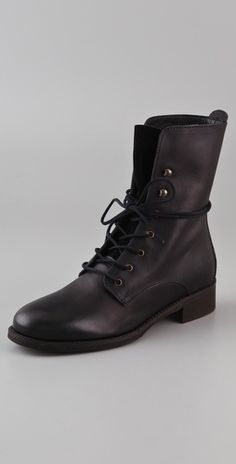 Madewell lace up combat boots- true black