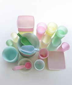 Vintage pastel Tupperware :)---always loved tupperware & still have some pieces!