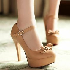 Bow Mary Jane Stiletto High Heels
