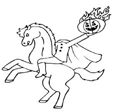 image result for headless horseman coloring pages - Headless Horseman Coloring Pages