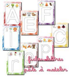 La maternelle de Laurène: Fiches lettres pâte à modeler