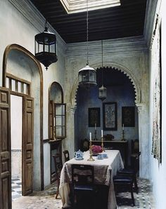 Roberto Peregalli's restored Moroccan riad, Tangiers Morocco.