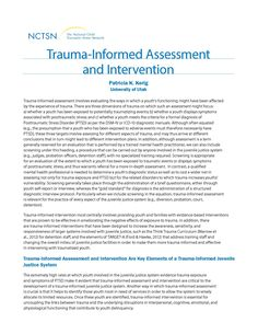 Essential Elements Of A TraumaInformed Juvenile Justice System