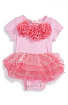 Popatu Floral Tutu Bodysuit (Baby Girls) available at #Nordstrom