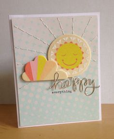 Sweet card using Sugar Rush, Happy everything #scsketch by Leah at @Studio_Calico