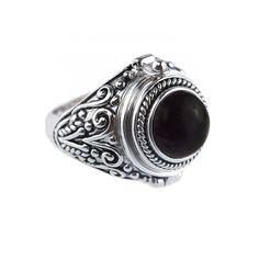 RAVEN Black Onyx Poison Ring