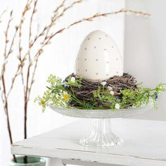 Set österliches DekonestSet österliches Dekonest, - Home Easter Table, Easter Eggs, Ideas Actuales, Haft Seen, Easter Traditions, Easter Holidays, Decoration Table, Diy Garden Decor, Holidays And Events