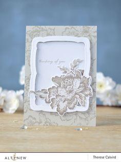 Altenew - декоративный цветок - наша семья Рамка умереть - Терез Calvird (карта) 1 копия