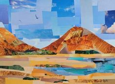 Teach your high school class more about landscape and cityscape collages. Coyle's website makes it easier to bring collage into the classroom. Collage Landscape, Nature Collage, Abstract Landscape, Magazine Collage, Magazine Art, Collage Techniques, Collage Making, Collage Artists, Art Plastique