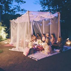 Say it with me now: 😍 📷 from You guys ready for tomorrow night? Boho Garden Party, Outdoor Dinner Parties, Backyard Parties, Backyard Birthday, Sleepover Party, Event Decor, Party Planning, Party Time, Marie