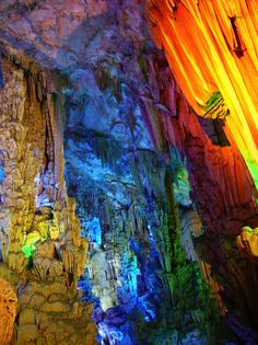 Multicolored Stalagmites and Stalactites in Chinas Famous Cave - My Modern Metropolis