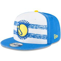 differently 388c8 4e669 Men s Golden State Warriors New Era White Royal Hardwood Classics Nights 4  9FIFTY Adjustable Snapback