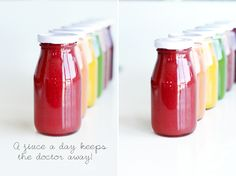 Cold Pressed Rainbow Juices | Healthy, colorful, delicious cold pressed juice recipes