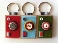 felt camera keychain.  I wonder if my husband would be embarrassed if I made this for him?