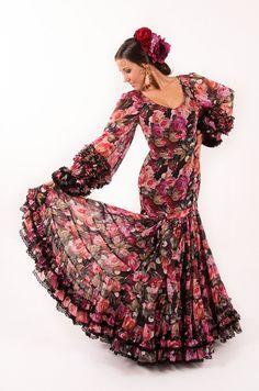 Jazmin-Coleccion Tokio 2015-El Ajoli-Trajes de flamenca Dresses With Sleeves, Long Sleeve, Fashion, Flamenco Dresses, Bata De Cola, Long Sleeve Dresses, Dancing, Moda, Sleeve Dresses