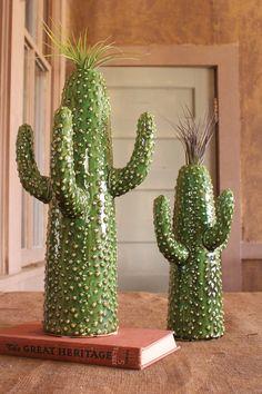 large ceramic cactus vase