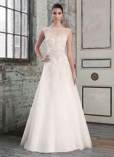 Embellished A-line wedding dress from Signature Justin Alexander