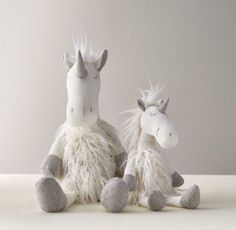 RH baby&child's Wooly Plush Unicorn:A fine furry friend, designed with playful details every child will love, from the floppy legs and arms to the embroidered accents and lots of fun, different textures.