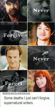 Supernatural - Never forgive, never forget - The characters that will be missed the most