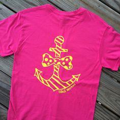 Monogrammed Preppy Anchor Short Sleeve Shirt. by ElleQDesigns
