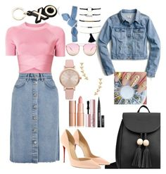 """""""WYW❤"""" by emilizastyles ❤ liked on Polyvore featuring J.Crew, T By Alexander Wang, M.i.h Jeans, Quay, Christian Louboutin, Colette Malouf, Vivani, Gorjana, Too Faced Cosmetics and Barneys New York"""