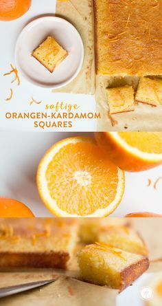 Fruchtig-saftige Orangen-Kardamom-Squares von feiertäglich