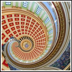 Oklahoma Capital Dome Droste effect | Flickr - Photo Sharing!
