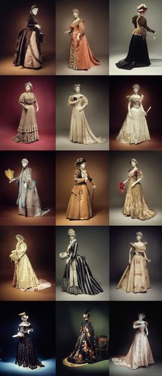 """ This 1989 exhibition of the Brooklyn Museum was called The Opulent Era: Fashions of Worth, Doucet and Pingat, and featured many exquisite works from the greatest couture houses of la Belle Epoque. 1800s Fashion, 19th Century Fashion, Edwardian Fashion, Vintage Fashion, 18th Century, Historical Costume, Historical Clothing, Belle Epoque, Vintage Gowns"