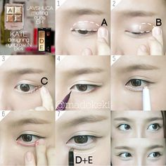 Original Eye Makeup How To : Korean Ulzzang/Uljjang Make Up (Ft. Korean Makeup Look, Korean Makeup Tips, Korean Makeup Tutorials, Makeup Brushes, Eye Makeup, Anime Makeup, Clean Makeup, Makeup Eyeshadow, Korean Beauty Tips