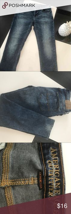 AE Men Jeans 32X30 American Eagle Jeans  32x30 Super Skinny  Extreme Flex Like New American Eagle Outfitters Jeans Skinny