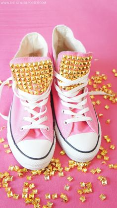 I would wear these studded sneakers!