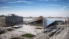 Rotterdam Centraal en het Groothandelsgebouw