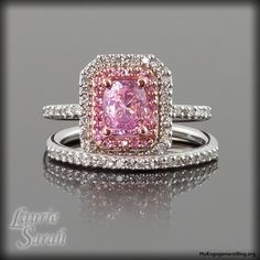 pink sapphire and diamond engagement ring - My Engagement Ring